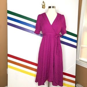 NEW MAEVE fuchsia midi dress